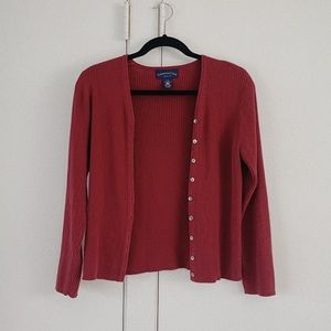Petite Small Red Cardigan by Charter Club